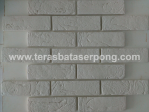 Bata Tempel Putih Tekstur HSM