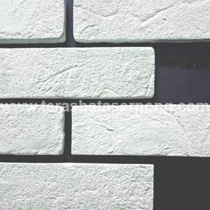 Bata Tempel Putih Tekstur